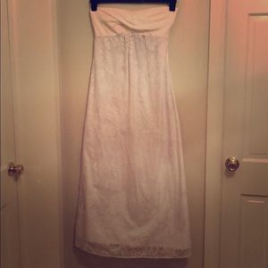 Lilly Pulitzer Long White Overlay Dress. Size S.